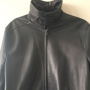 Brioni Bomber Leather Jacket Coat